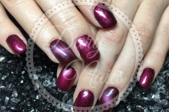 Fullcover Rot Acryl mit Cat-Eye